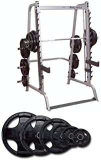 Body Solid Series 7 Smith Machine with 255 lb Rubber Olympic Set