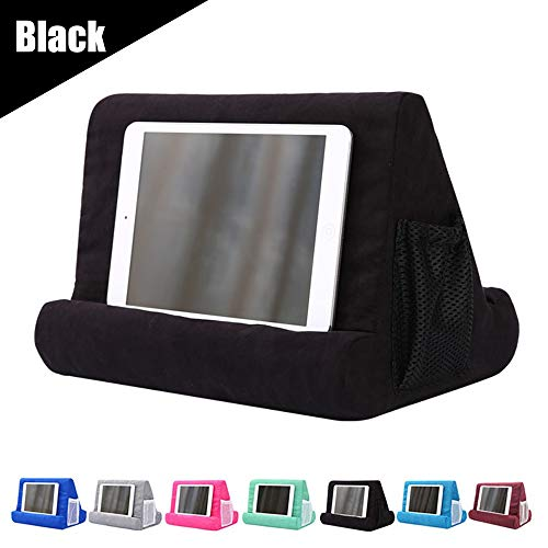 JoinHome Soft Pillow Tablet Pillow Stand for Ipad Stand Mult-Angle Tablet Phone Holder Lap Stand Mobile Phone Holder (Black)