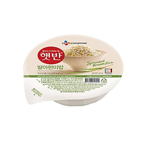 Arroz integral instantáneo cocido germinado coreano, sin gluten, Microondas (paquete de 6)