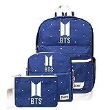 NOCY&ZL KPOP BTS Bangtan Boys Mochila Unisex Casual Schoolbag Laptop Bag Laptop Bag Mochila de Viaje Bonito Regalo para los fanáticos de BTS