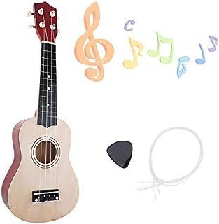 YiPaiSi 21 Inch Soprano Ukulele Beginner Pack, Ukulele Soprano Starter Kit, Hawaii Basswood Kids Guitar With String & Pick...