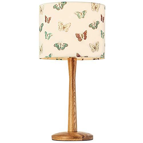 Seven stars Beleuchtung Tischlampe Holz - XCTL314 Schlafzimmer warme amerikanische Pastorale Stickerei Kinderzimmer Holzbett Lampen (Farbe : C)