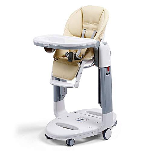 KUANDARYJ Mit Swing-Funktion Hochstuhl Baby, Verstellbar und Klappbar Verstellbare Rückenlehne einfache Reinigung Komfort Polster Baby, Brown