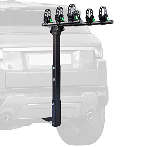 STEGODON 3 Bike Hitch Rack 2'' Hitch Receiver Heavy Duty Bicycle Carrier Racks Hitch Mount Double Foldable Rack for Cars, Trucks, SUV,Hatchback RV,Tow Hitch and Minivans