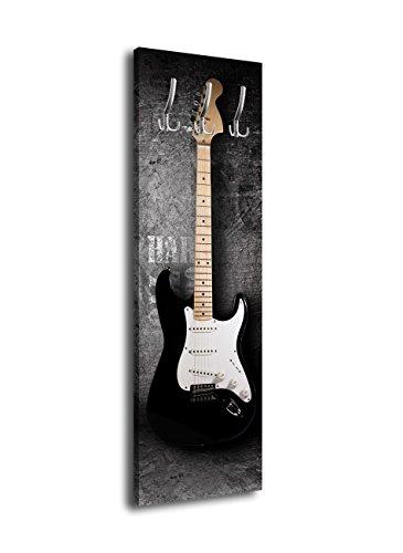 wandmotiv24 - Perchero de pared con diseño de guitarra eléctrica G353 (40 x 125 cm), color rosa