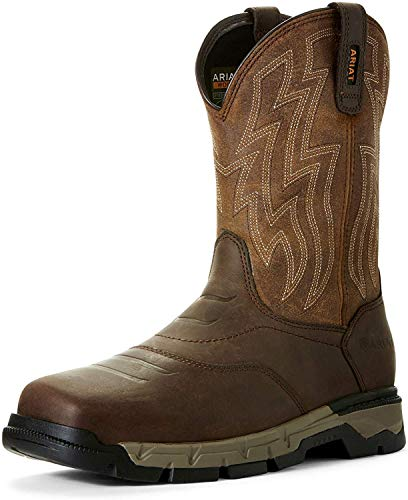Ariat Men's Rebar Flex Western Construction Boot, Brown/Wicker, 10.5D