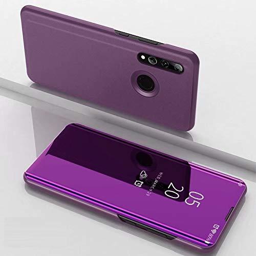 A/M Huawei-Handyfall JRC Galvanik Spiegel Horizontal Flip Ledertasche for Huawei Honor 10i / Nova 4 Lite, mit Halter (Black) Huawei Erweiterte Stoß- Rückfall (Color : Purple)