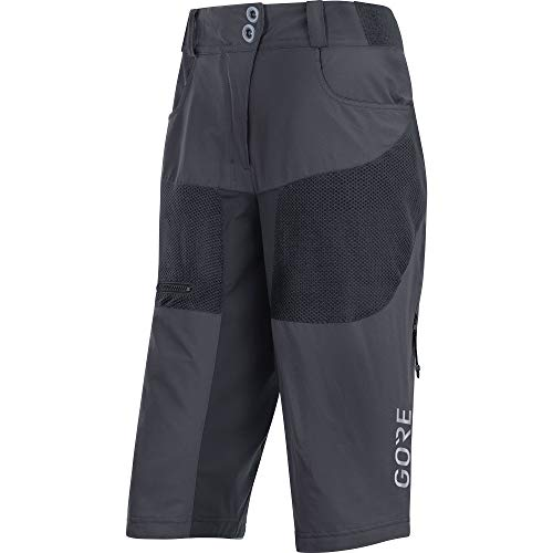 GORE WEAR Femme Short de VTT respirant, C5 Women All Mountain Shorts, 40, Gris foncé, 100146