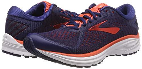 Brooks Women's Aduro 6 Running Shoes, Blue (Blue/Coral/White 438), 5 UK