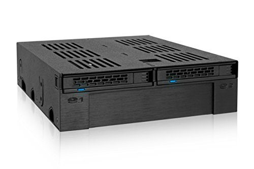 "Icy Dock ExpressCage MB322SP-B 2x2.5 SATA/SAS HDD/SSD 5,25"" Mobile Rack con Slot da 3,5"""