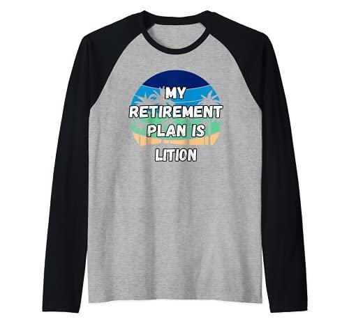 Lition Crypto, mi plan de jubilación es Lition Camiseta Manga Raglan