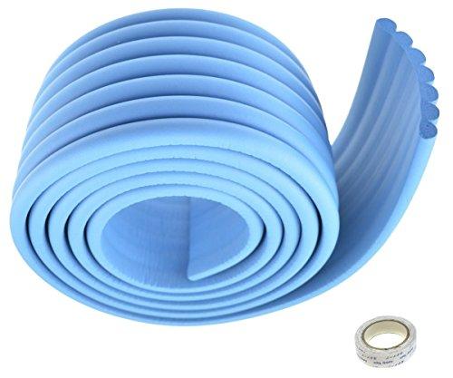 TUKA Multiusos Protector Espuma, 200cm x 80mm x 8mm Universal anticolisión Protector Rollo para Superficie Dura & Bordes, anticolisión Protección Tira para Bebés y niños, Azul, TKD7002-blue