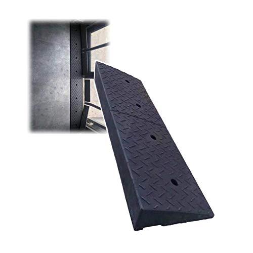 DYB Rampa de acera Umbral Pendiente de Carretera Car out Silla de Ruedas Pasos ascendentes Almohadilla Impermeable Antideslizante Fuerte Capacidad de Carga, 7 tamaños (Negro, Tamaño: 100x25x4cm)