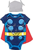 Marvel Avengers Thor Baby Boys Costume Bodysuit with Cape & Hat Blue (3-6 Months)