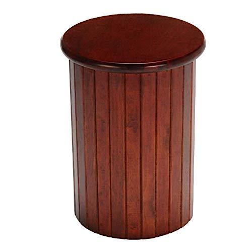 LIGUANGWEN-dengzi Hocker Chic Exklusives Holz Fußbank Osmanische Runde Pouffe Hocker Holzbein Padded (Farbe: Rot nanmu Größe: 34 * 44cm) Schemel (Color : Red Nanmu, Size : 34 * 44cm)
