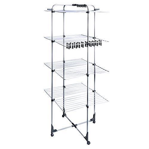 Amazon Basics AmazonBasics 4-Tier Deluxe Tower Airer Dryer Laundry Rack, 45 Meters, m