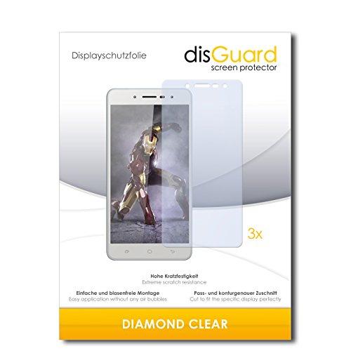 disGuard 3 x Schutzfolie Hisense L695 Bildschirmschutz Folie DiamondClear unsichtbar