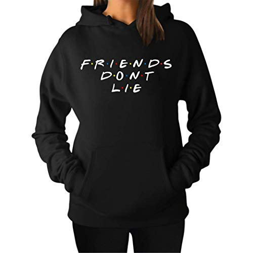 Friends Dont Lie - Sudadera Mujer Urbana con Capucha y
