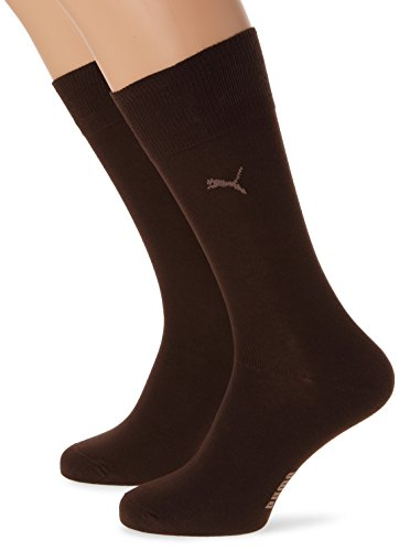 Puma Herren klassische Sportsocken  2er Pack, 138 - Dark Brown, 39-42, 222145001
