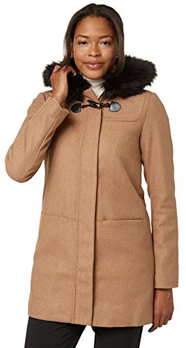 Tom Tailor für Frauen Coat Dufflecoat mit Kunstfell latte macchiato 36