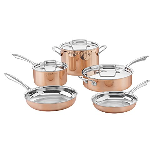 Cuisinart CTPP-8 Copper Collection Cookware Set, Medium