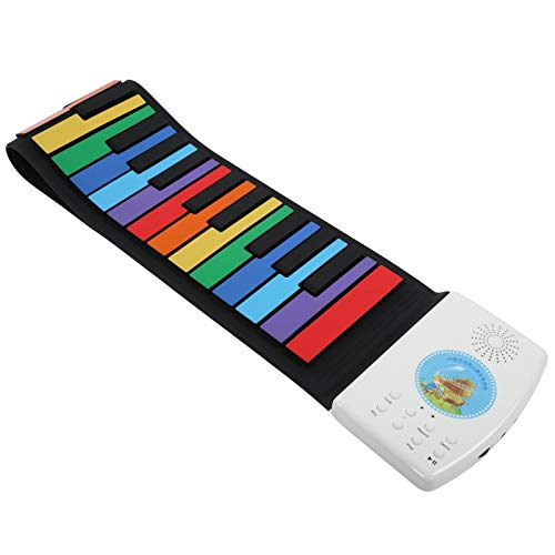 Pwshymi 49 teclados de Piano enrollables Práctico Piano Profesional Enrollable de Mano para niños para Amantes de la música