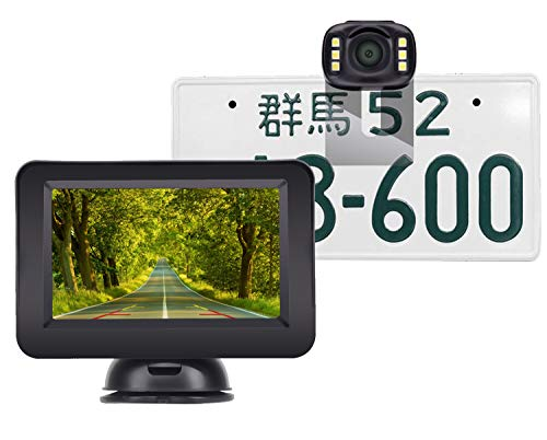 【Vanfare】バックカメラモニターセット バックモニター 4.3インチ ケーブル一本配線 IP69防水 暗視機能 DIYガイドライン 正像/鏡像切替可能 7メートル配線付 二年間安心保証付