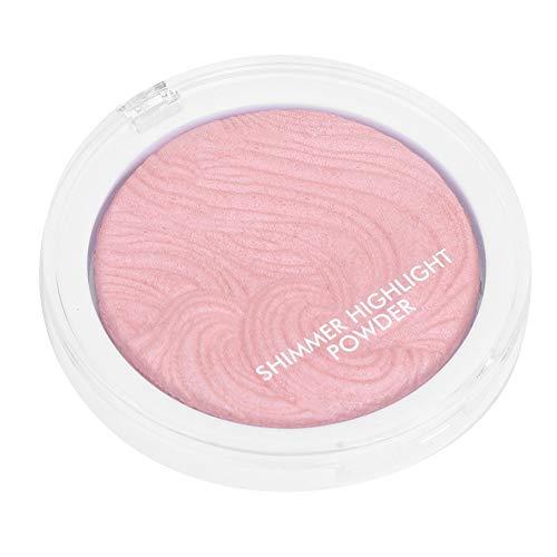 Fashionable Single Color Face Highlighter Pressed Powder Brightening Modify Makeup Concealer Foundation (3#pink shimmer香槟粉)