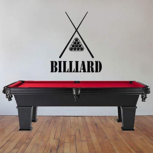 Wand - Aufkleber, Billiard Mit Der Stichwort- Wandaufkleber Aufkleber Sport - Aufkleber Billiard Pool - Wand - Dekoration 74X96Cm