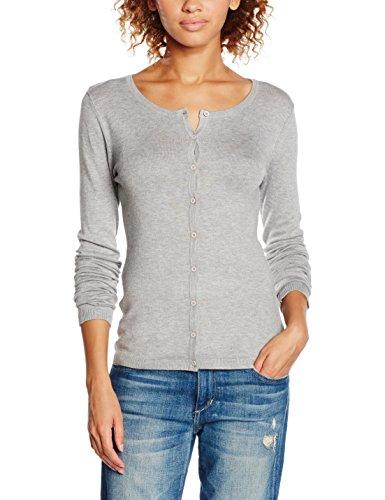 ICHI Damen Pullover Mafa CA2, Grau (Grey Melange 10020), 36 (Herstellergröße: S)