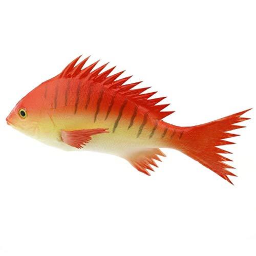 Gresorth 24 cm Künstlich rot Schnapper Fälschung Fisch Spielzeug Modell Zuhause Party Küche Anzeige Dekoration