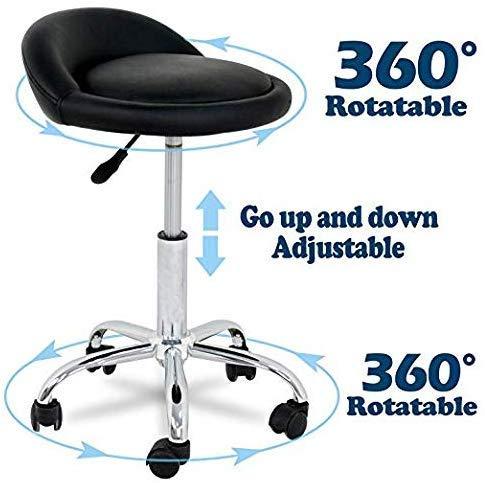 Dawoo Roller Rotary Salon Massage Hocker Stuhl, Verstellbare Schublade Arbeitshocker, Mit Roller Für Massage Spa Salon Haar Schönheit Maniküre Tattoo Behandlung Büro.