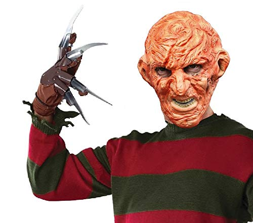 shoperama Halloween Latex Maske Freddy Kruger A Nightmare on Elmstreet verbranntes Gesicht Horror-Film Mörder Killer