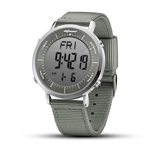 Relojes Digitales, Reloj Deportivo Digital Unisex para Hombres, Mujeres, niños (Gris-2)