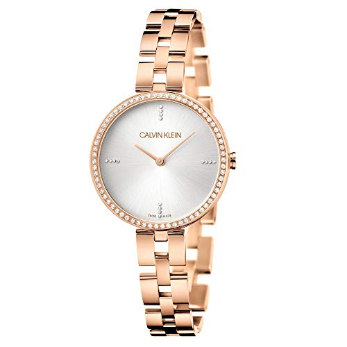 Calvin Klein KBF23X4W Elegance Collection Reloj de pulsera en tono oro rosa