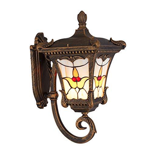 Vintage lampes murales étanches, rétro en aluminium industriel LED éclairage verre décoratif suspension lampe murale lumière extérieure Creative Corridor Table à manger murale (Color : B)