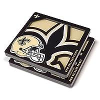 YouTheFan NFL New Orleans Saints 3D Logo Series Coaster