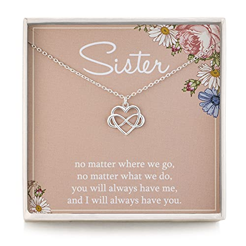 RareLove Sister Gifts from Sisters 925 Sterling Silver Tiny Infinity Heart...