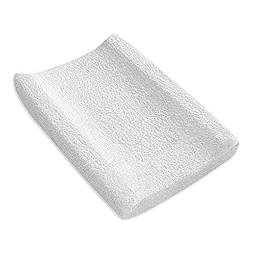 Pirulos Funda Cambiador Bañera Bebé/Funda cubrebañera Ajustable 100% Algodón 50x80cm, Color Blanco