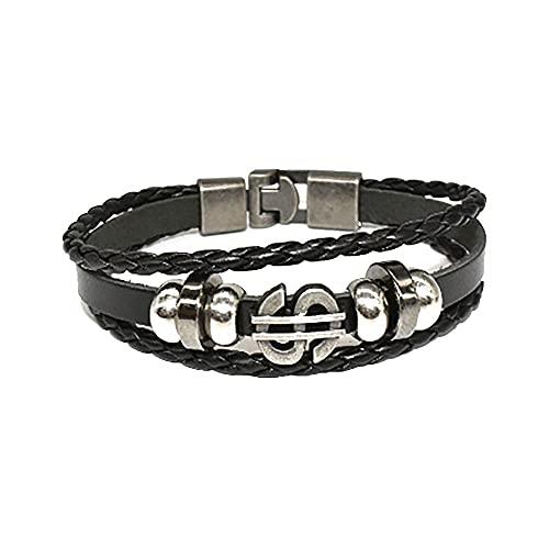 hippie jewelry for women, men's bracelet, bracelets, Men's black bracelet for women Leather Bracelet | cool bracelets for men Real Wrap Woven Leather Cuff Bracelet Bracelet, Suitable for Men and Women