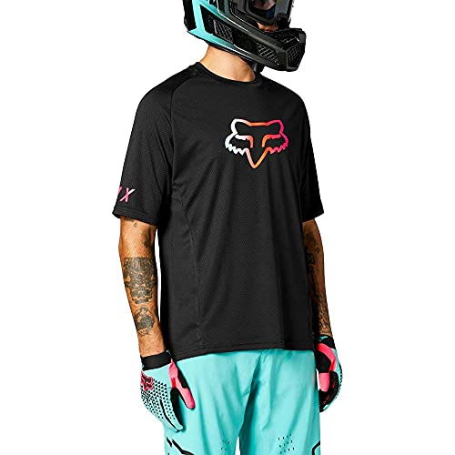 Fox Defend SS Jersey Black Gancho, 001, Extra-Large Unisex Adulto