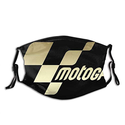 Moto-GP Logo Moda para Adultos Protector Facial UV Decoración de Polvo de Salud Transpirable para Traje de contaminación para el hogar Negro
