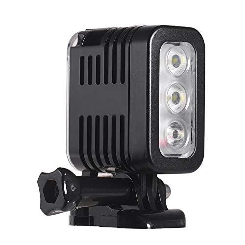Luz de Video fotográfica LED Impermeable, 5500-6000K bajo el Agua de 30 m de Gran Angular de Gran Angulo USB, para Todas Las cámaras DSRL y Las videocámaras