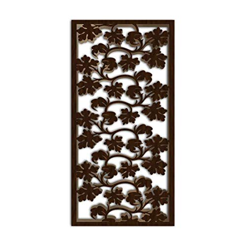 Why Should You Buy NISH! Decorative Carved MDF Wood Wall Panels for Room Partition, Screen, Divider, Door, Ceiling, Window #012-09 (MDF 12mm Thick, 4ft x 8ft, Walnut – One Side Painted, 1 pc)