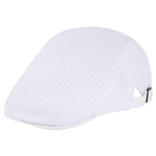 YCZ Sombrero de Pico de Pato de Verano de Malla Transpirable para Hombre Boina de Vendedor de periódicos Ivy Cap Cabbie Flat Soft
