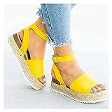 XYY Sandalias Damas Sandalias de Boda Sandalias de Verano Plateau Espadrille Mujeres Sandalias Wedge Sandalias Summer Open Zapatos Flatform Slings Blings Blips Zapatos de Ocio (Color : B3, Size : 39)