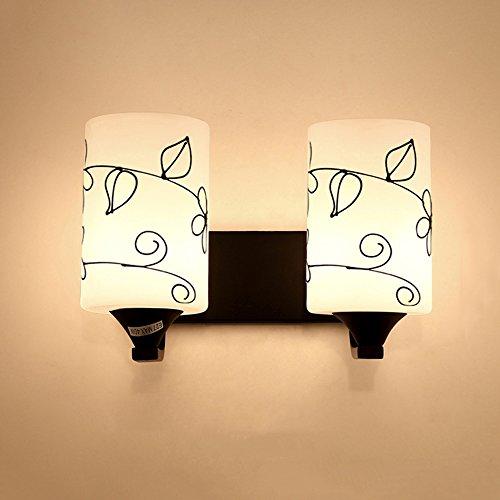 Neilyn Simple Moderne LED Lampes Murales De Chevet Chrome Chêne Mur Applique E27 Lampe pour Salon Chambre Couloir LED Éclairage Loft Vintage Mur Éclairage Intérieur Luminaires (Color : I-Warm Light)
