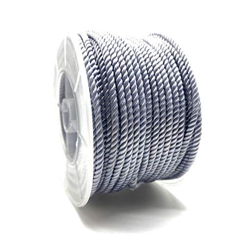 CXWK 5 Yardas 3mm Hilo de Milán joyería Hilo Hecho a Mano DIY Collar Trenzado Cuerda Pulsera Cuerda Cintura Cadena Cuerda roja