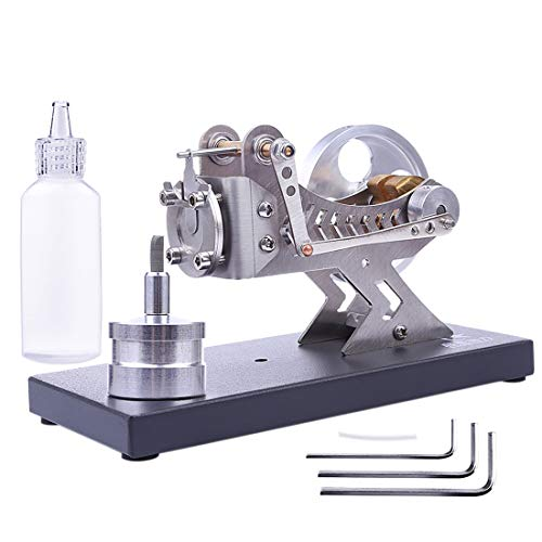 TETAKE Stirlingmotor Bausatz Ganzmetall Vakuum Sterling Motoren DIY Stirlingmotor Modell Stirling Engine Kit für Technikinteressierte Bastler