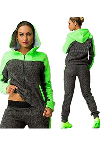 Fliegend Damen Jogginganzug Große Größen Traininganzug Hoodie Sportanzug Zweiteiler Freizeitanzug Langarm Zip Sweatshirt Casual Sporthose Laufenanzug 4XL